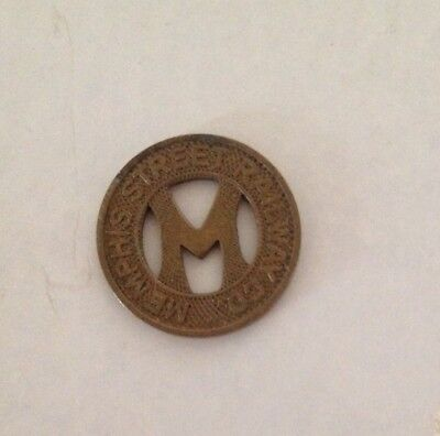 Vintage Memphis Street Railway Co. Token Good for One Fare Rare Coin Tennessee