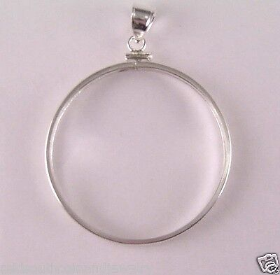 Coin Bezels 38mm SILVER DOLLARS Morgan, Peace, Ike, Coin Edge Sterling Silver