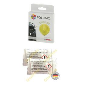 Tassimo Service Cleaning Disc & 2 Descaling Tablets (Bosch Descaler Kit)