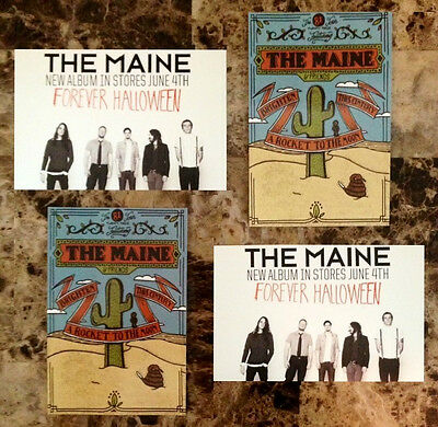 Forever Halloween The Maine (THE MAINE Forever Halloween Ltd Ed Postcards Lot +FREE Punk Rock Alt)
