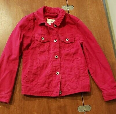 Abercrombie Kids Red Jean Jacket Size 7/8