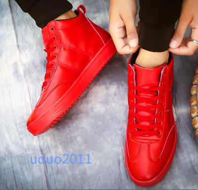 Men Fashion Street Lace Up High Top Board Shoes Hip Hop Casual Sport Sneakers SZ