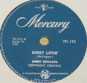 JIMMY EDWARDS ~ LOVE BUG CRAWL ~ VERY RARE UK 78 RPM RECORD ~ ROCK 'N' ROLL