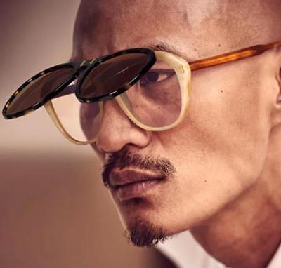 Flip Up Lens Aviator Sunglasses Square Frame Vintage Style Glasses Men Women