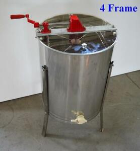 Stainless Steel 4 Frame Honey Extractor Beekeeping Equipment