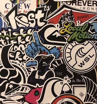 cf150891c8302 Surf Sticker Pack - Salty Crew Rip Curl Quiksilver Vans Maui And Son WSL