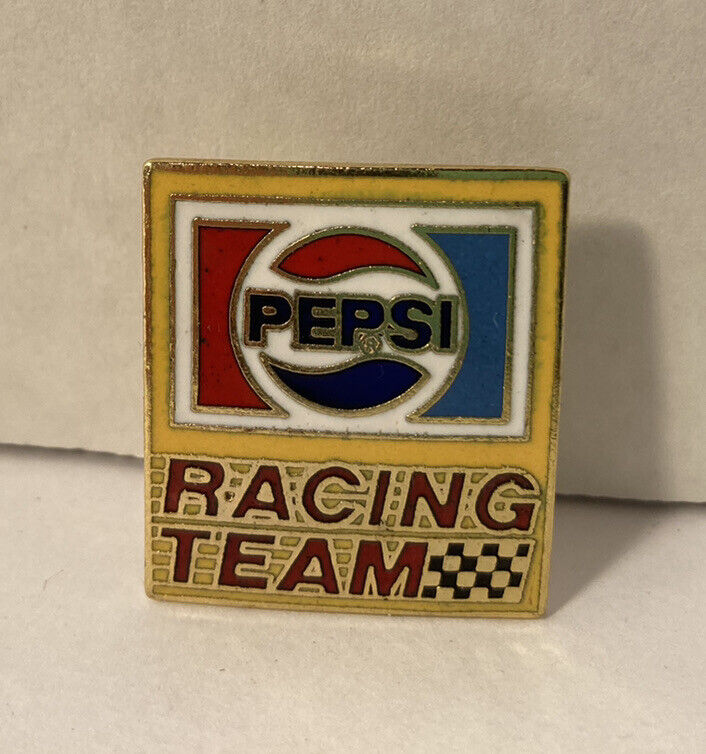 Vintage Advertising Pepsi Cola Soda Racing Pin Pinback Pepsi Challenge