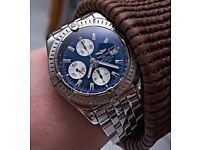 BREITLING CHRONOMAT EVOLUTION A13356 AUTOMATIC GENTS CHRONOGRAPH BLUE DIAL WATCH
