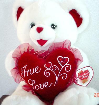 "2004 VALENTINES DAY Teddy bear Collectable Series Red ""True Love"" on Chest NWT."