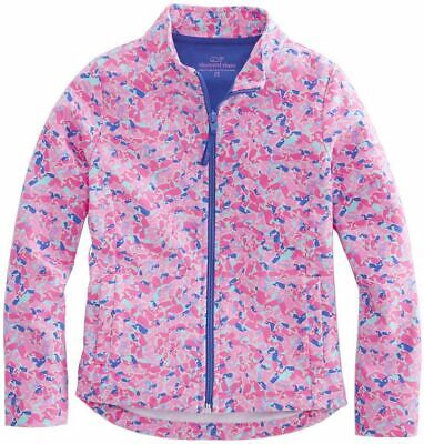 NWT VINEYARD VINES Girls Whale Swirl Full Zip Sweatshirt Jacket Pink Sizes  -