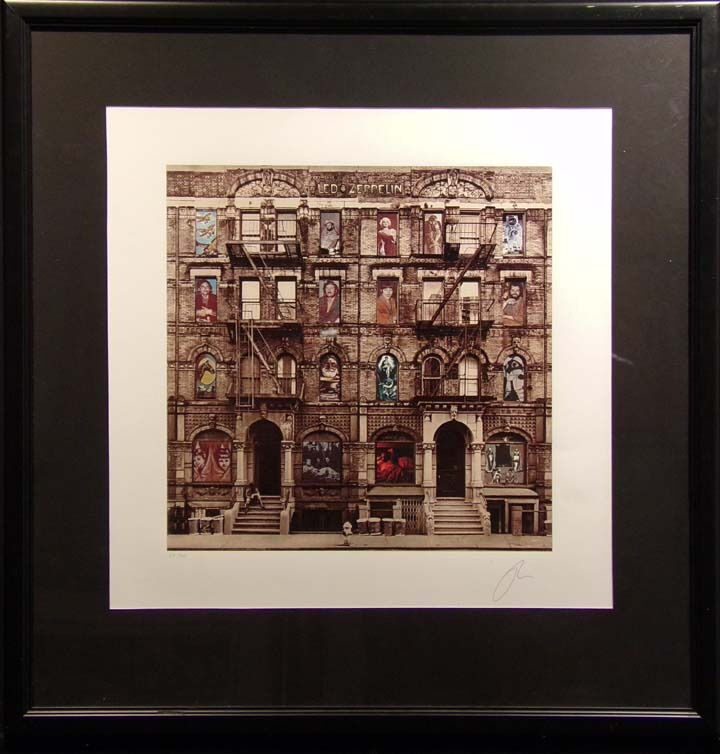 "Peter Corriston ""physical Graffiti"" Led Zeppelin Giclee On Paper Hand Signed"
