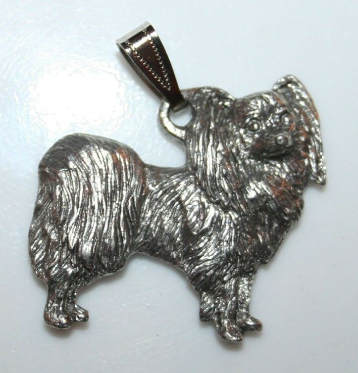 PAPILLON Dog Harris Fine Pewter Pendant USA Made