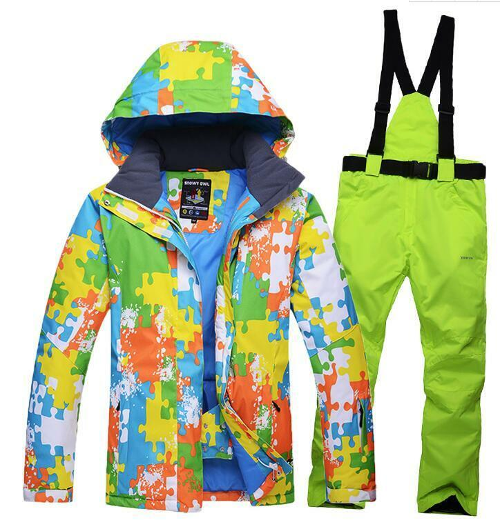 Men Adult Warm Waterproof Snowsuits Ski Snow Snowboard Jacke