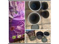 Big pots and soil