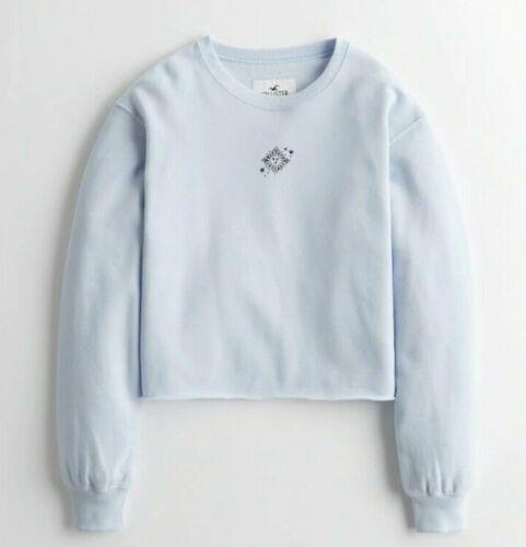 Brand New Hollister Crop Boyfriend Crewneck Sweatshirt Size Small - Extra Large