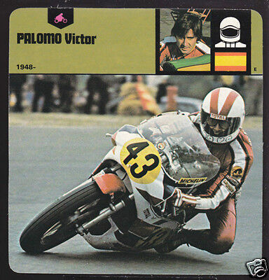 VICTOR PALOMO Spain Motorcycle Racing PICTURE BIO CARD