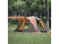 New Large Orange 3-4 Man Pop-up Tent