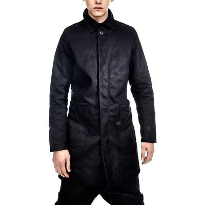 G-Star Mens Coat Size-L Raw for Ocean Drop A-Crotch Denim Trench Bionic Yan New for sale  Shipping to United States