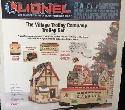 ✅LIONEL CHRISTMAS VILLAGE MOTORIZED BUMP N GO TROLLEY SET 6-11809! O GAUGE TRAIN
