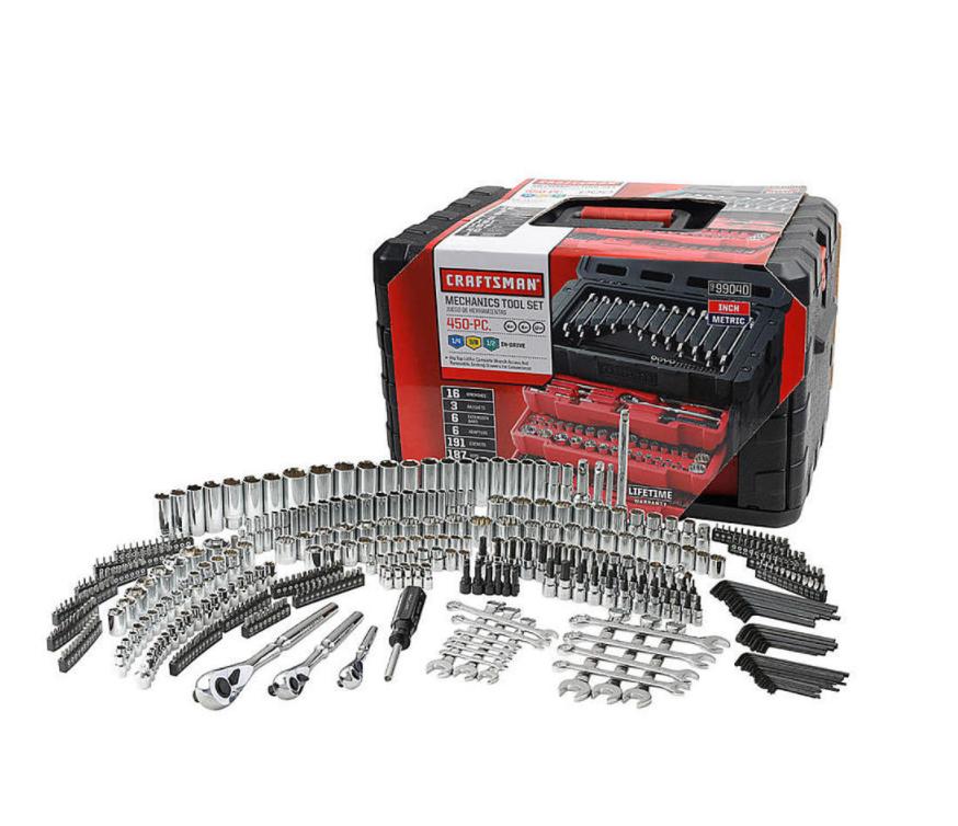 Craftsman 450 Piece Mechanic's Tool Set With 3 Drawer Case Box 99040 254 230