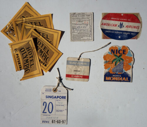 Lot of Vintage Travel Memorabilia & Ephemera BOAC American Airlines Swiss Air