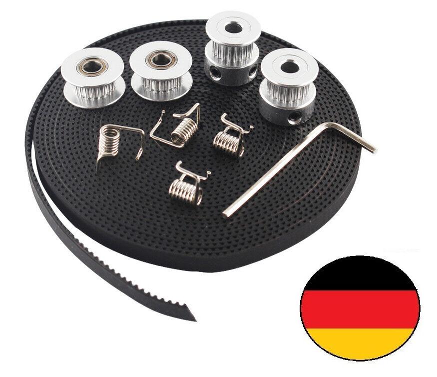 GT2 Pulley Zahnriemen Set GT2 20 Zahnrad Führungsrolle 2 m Riemen RepRap Drucker