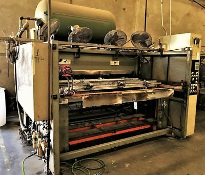 Brown Thermoformer Vacuum Forming Machine 54 X 72 Rebuilt Gas Vulcan Heaters