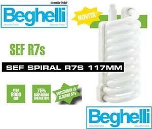 Dettagli su BEGHELLI LAMPADA LAMPADINA RISPARMIO 117mm R7S 24W =105W ...