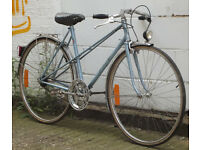Single speed ladies bike french frame 20inch built BY US NEW , CHAIN, DICTS 18T, BRAKES - WARRANTY