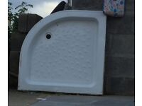 Stone curved shower tray