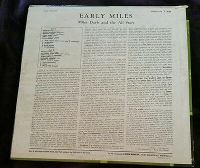Early Miles 1951 & 1953 - Miles Davis and the All Stars LP Prestige 7168 Mono
