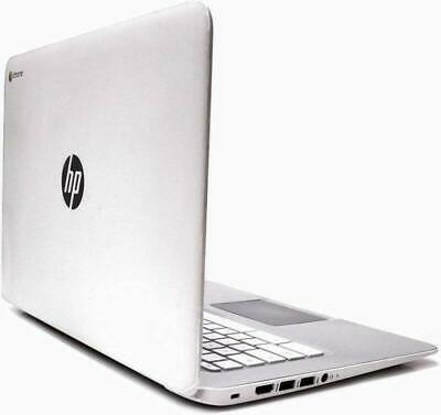 "HP White Chromebook laptop 14.0"" 32GB SSD 4GB  HDMI Usb 3  WiFi webcam Chrome OS"