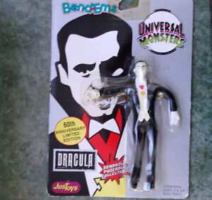 1990 DRACULA UNIVERSAL MONSTERS JUST TOYS BEND-EMS