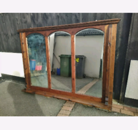 Very Antique Large/oversized Overmantel mirror