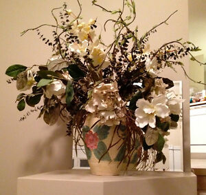 Fake Flowers with Large Vase
