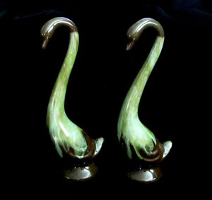 Blue Mountain Pottery Swans in Rare Glaze