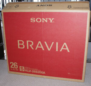 "Sony 26"" 16:9 1080i Multi-System BRAVIA (NEW IN BOX)"
