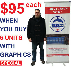 Trade Show Retractable Roll Up Banner Stand + GRAPHICS