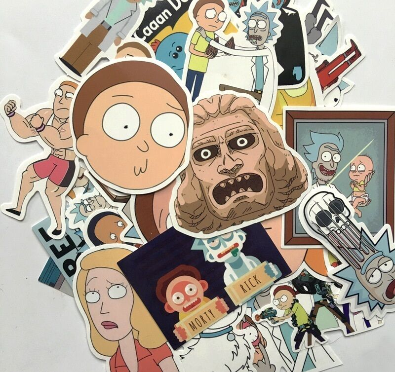 35pcs rick and morty car sticker random character sticker for Random diys