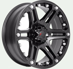 """New 20"""" Matte blk or Blk & mach rims for Ford F250-350"""