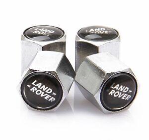 Land Range Rover Car Chrome Valve Dust Caps Covers Wheel Tyre Set of 4 Dustcaps