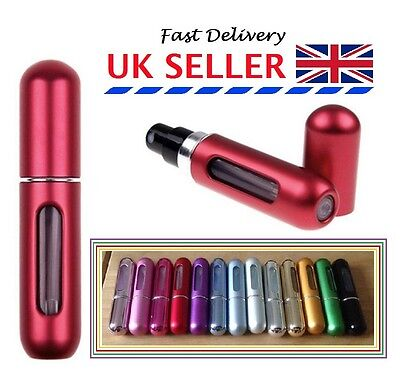 5ml Easy Fill Refillable Travel Handbag Perfume Scent Atomizer Pump Spray Bottle