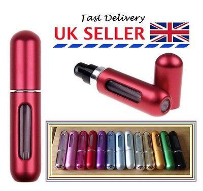 5ml Easy Fill Refillable Travel Handbag Perfume Scent Atomizer Pump Spray Bottle