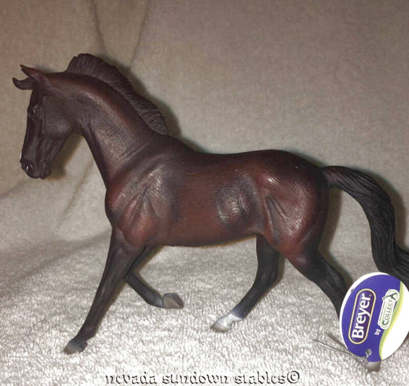 Breyer Collectable Horses Collecta Black Thoroughbred Mare