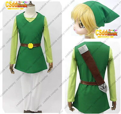 The Legend of Zelda Four Swords Cosplay Group Costume With Wig](Group Of Four Costumes)