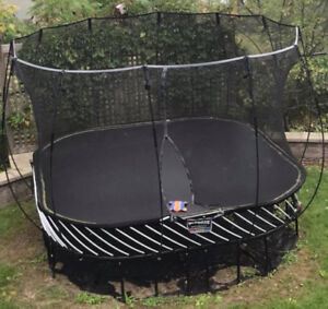 2 years old 11 by 11 Springfree trampoline