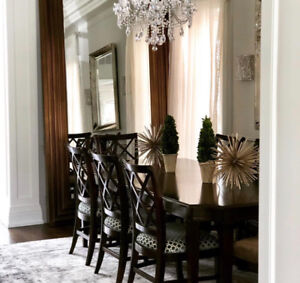 Dining room chairs (designer's own) by Lane Furniture