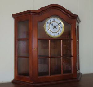 Curio Wall Cupboard with Westminster Chime Clock
