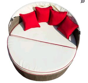 Outdoor Daybed / Conversation Set with Cushions