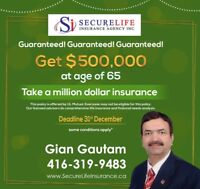 GUARANTEED HIGHEST CASH-VALUE LIFE INSURANCE-GET 50%  BACK AT 65